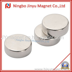 Neodymium disc magnet nickel coated for sale from 20 years factory