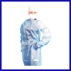 pp+pe material disposable gown for hospital use