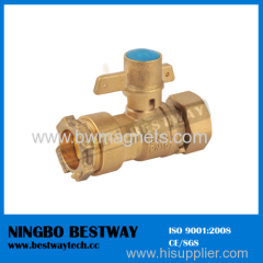 Forged Brass Ball Valve with Lock for HDPE or PE pipe