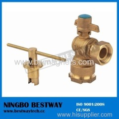 CW602N DZR forged brass lockable ball valve for HDPE pipe