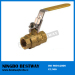 High Quality Lead Free brass Lockable ball valve with Locking handle