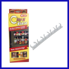 NEW Clip N Store Kitchen Spice Organizer Peel Stick & Clip