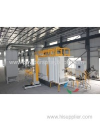 powder spray booth for many colors