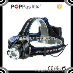 POPPAS T90 Telescopic XML T6 High power headlight for outdoors safetys Plastic Camping LED Headlamp
