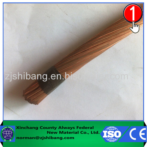 Copper stranded wire of building grounding electrode system