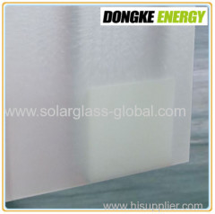 4.0mm Tempered solar panel coating glass for window wall