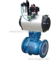 pneumatic fluorine ball valve ZSHOF