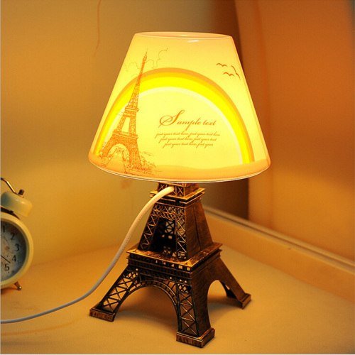The Eiffel Tower home bedroom eyecare plug-in plastic desk lamp