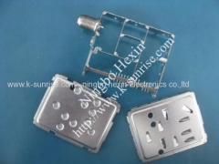 shielding with connector for set top box