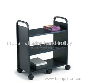 Three layers library mobile platform book cart