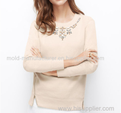 New supply 100% Cotton long type top fashion appliques blouse China dress factory dress low price