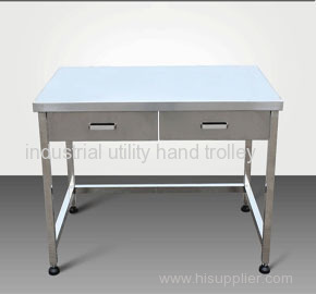 Laboratory stainless steel workbench with drawers