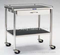Seed testing laboratory stainless steel hand trolley with four wheels