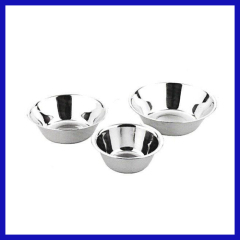 Stainless steel dressing bowl