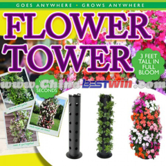 Flower Tower is a freestanding vertical planter