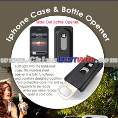 Functional beer bottle phone case opener