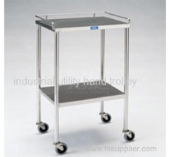 Two Layers Laboratory stainless steel mobile hand cart