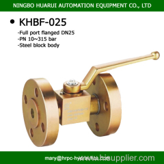 SS316 dn25 pn315 bar flange ball valve zinc plated china manufacture