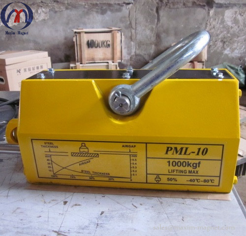 PML-10 Permanent Magnetic Lifters manually