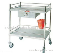 Medical mobile equipment stainless steel carts $ trolleys on wheels