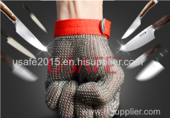 Amercian Material High quality Safety Cut Proof Protect Glove 100% Stainless Steel Metal Mesh Butcher Gloves