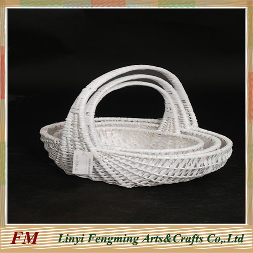 Hand-woven household decoration Wicker basket fruit basket gift rattan basket