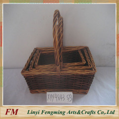 popular garden flower willow basket with handle