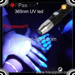 Poppas C92 Build in Battery zoomable usb led flashlight usb uv light