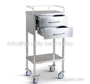 Lab stainless steel utility handcart on wheels