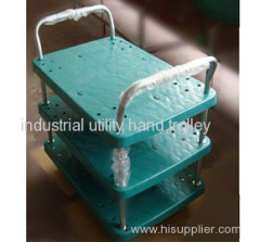 Noiseless plastic hand truck with three layers