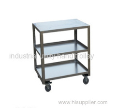 3 layer laboratory equipment moving cart with wheels