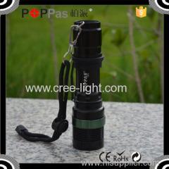 POPPAS T820 Hot Sale XPE Led Adjustable Focus aluminum zoom flashlight torch