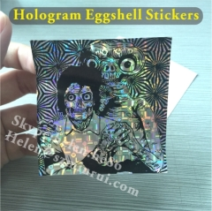 Destructible Vinyl Graffiti Hologram Eggshell Stickers