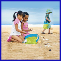 Sand away beach treasures Starfish shell bag Toys Kids Sandboxes Easy Carry Fun