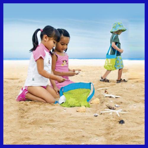 Sand away beach treasures Starfish shell bag Toys Kids Sandboxes Easy Carry Fun