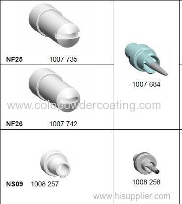 GM03 spray nozzles for extensions