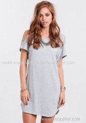 Feel more free and fashion dress o-neck brief style made in China dress China factory