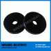 N45 D15x5mm Neodymium Disc Magnets Black Epoxy Coating