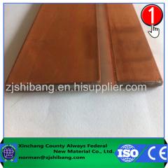 Barra de cobre plana de protección contra relámpagos
