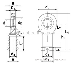 Bearings Rod Ends SI80-1ES