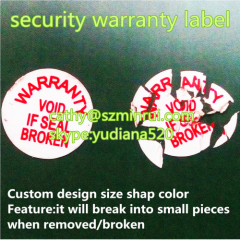 free design your uniqur repair warranty label with your logo