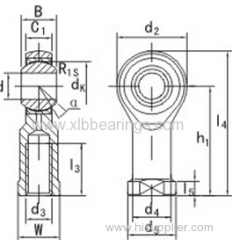 Bearings Rod Ends SI6T/K