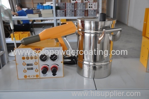 Powder Coating Gun Complete System Paint Set with Fluidizing Hopper 5lb Stainless Steel
