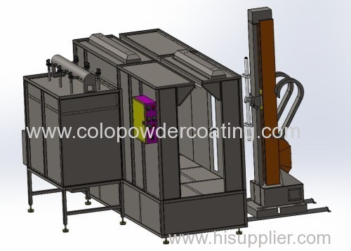 On Line Spray Booth For Powder Coating