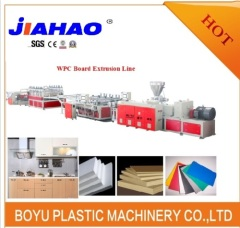 WPC pvc advertising foam board making machine