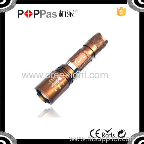 Poppas S11 XML T6 led 5 modes Lithium battery suported rechargeable Flashlight
