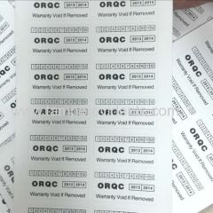 Minrui High Quality White Rectangle Security Seal Sticker for Safety Tamper Evident