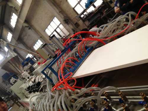 WPC Door production line