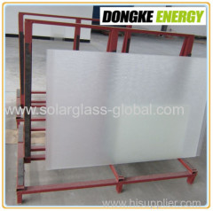Solar toughened glass with high quality