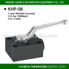manifold valve hydraulic manual oil two way ball valves with four bolts